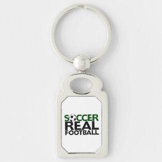 Soccer=Real Football Keychain