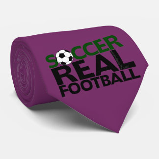 Soccer=Real Football Neck Tie