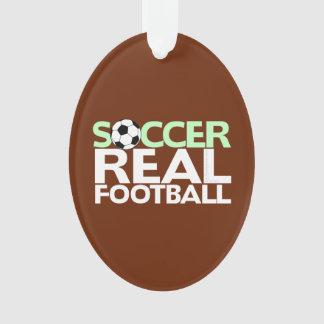 Soccer=Real Football Ornament