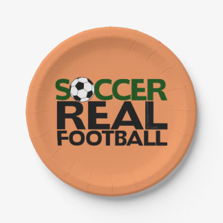 Soccer=Real Football Paper Plate