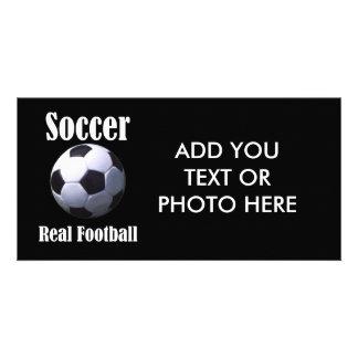 Soccer Real Football Photo Greeting Card