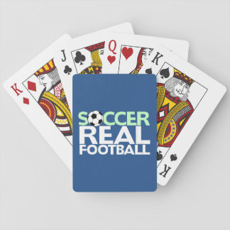 Soccer=Real Football Playing Cards