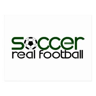 Soccer = Real Football Postcard