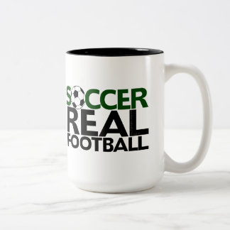 Soccer=Real Football Two-Tone Coffee Mug