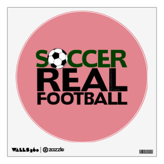 Soccer=Real Football Wall Decal