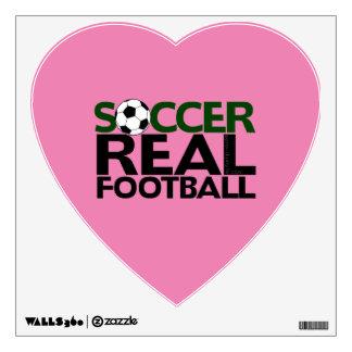 Soccer=Real Football Wall Sticker