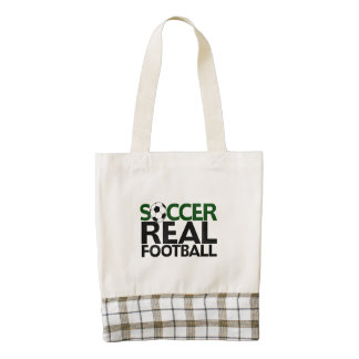 Soccer=Real Football Zazzle HEART Tote Bag