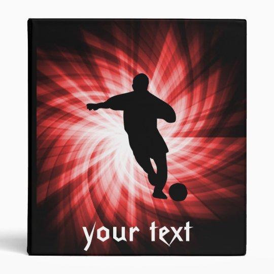Soccer; red binder