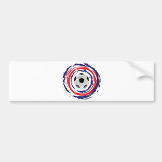 Soccer Red Blue And White Bumper Sticker
