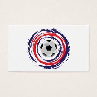 Soccer Red Blue And White Business Card