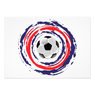 Soccer Red Blue And White Personalized Announcement