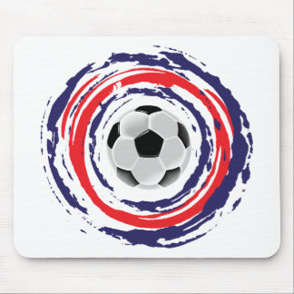 Soccer Red Blue And White Mouse Pad