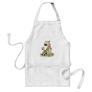soccer reds, like father like son adult apron