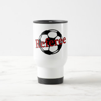 Soccer Referee 15 Oz Stainless Steel Travel Mug
