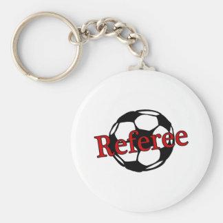 Soccer Referee Basic Round Button Keychain