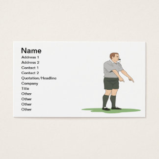 Soccer Referee Business Card