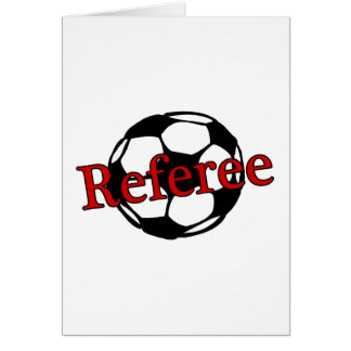 Soccer Referee Greeting Card