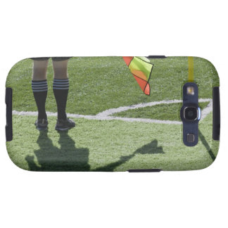 Soccer referee holding flag. galaxy SIII case