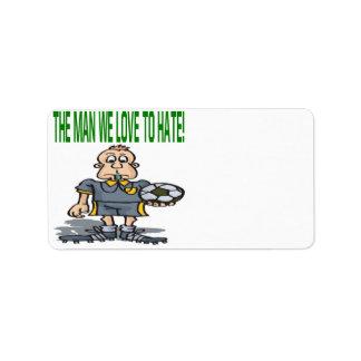 Soccer Referee Label