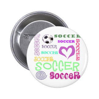 Soccer Repeating Pinback Button