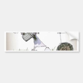 soccer right winger black + white kit bumper sticker