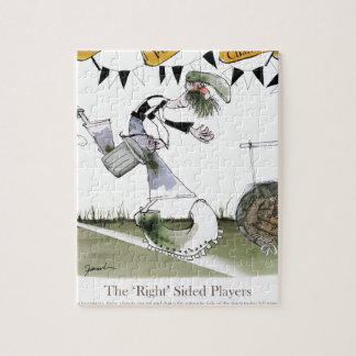 soccer right winger black + white kit jigsaw puzzle