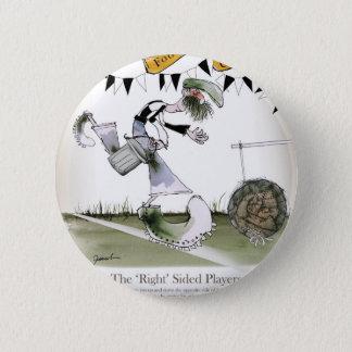soccer right winger black + white kit pinback button
