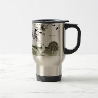 soccer right winger black + white kit travel mug