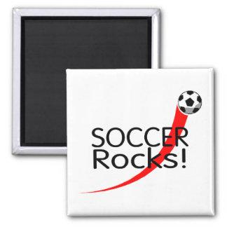 Soccer Rocks 2 Inch Square Magnet