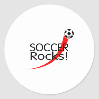 Soccer Rocks Classic Round Sticker