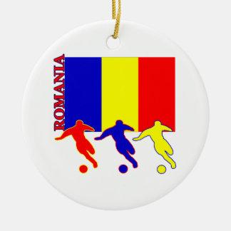Soccer Romania Ceramic Ornament