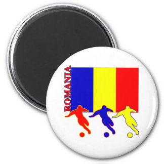 Soccer Romania Refrigerator Magnets