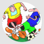 soccer round sticker