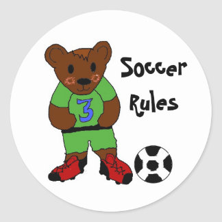 Soccer Rules Classic Round Sticker