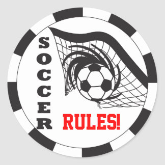 Soccer Rules! Classic Round Sticker