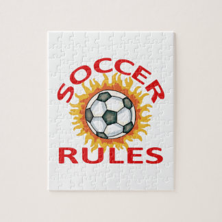 SOCCER RULES JIGSAW PUZZLE