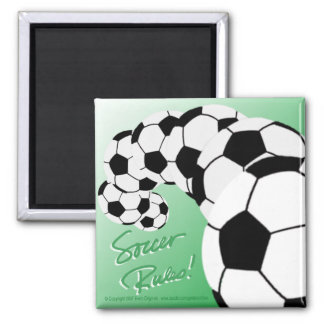 SOCCER RULES Sq Magnet/green