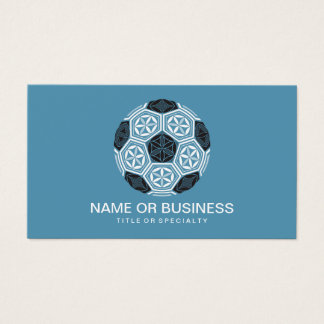 soccer sacred geometry business card