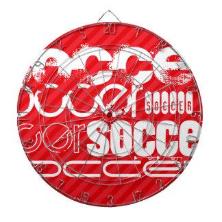 Soccer; Scarlet Red Stripes Dart Board