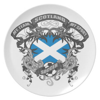 Soccer Scotland Party Plate