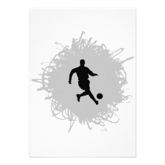 Soccer Scribble Style Custom Announcements
