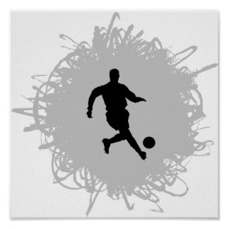Soccer Scribble Style Poster