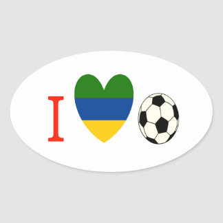 Soccer Season Oval Sticker