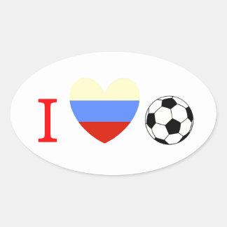 Soccer Season Oval Sticker