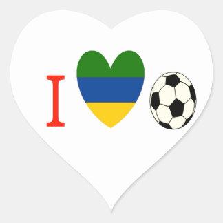Soccer Season Heart Sticker