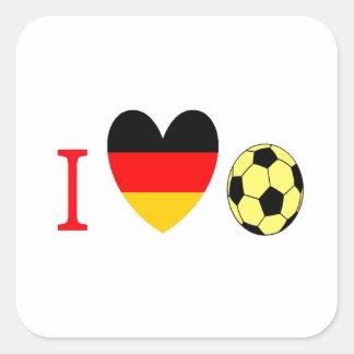Soccer Season Square Sticker