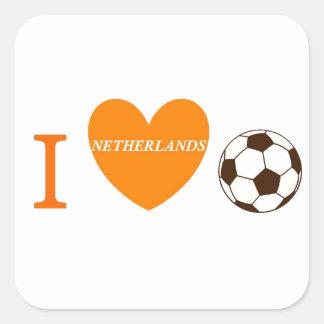 Soccer Season Square Stickers