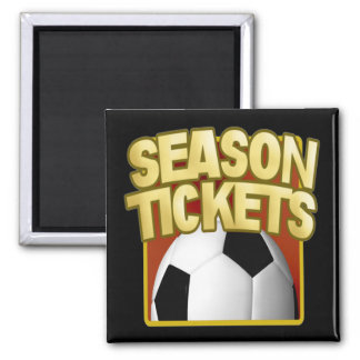 Soccer Season Tickets 2 Inch Square Magnet