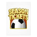 Soccer Season Tickets Custom Announcements