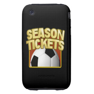 Soccer Season Tickets iPhone 3 Tough Cases
